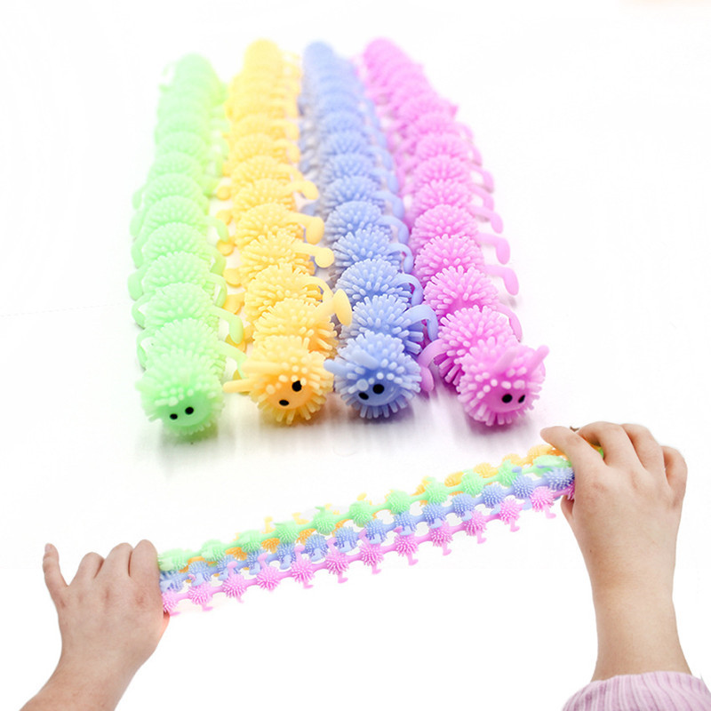 1pc 16 Knots Caterpillar Relieves Stress Toy Physiotherapy Releases Stress Fidget Toys img1