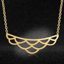 Unique Lotus Necklace LaVixMia Italy Design 100% Stainless Steel Necklaces for Women Super Fashion Jewelry Special Gift(China)