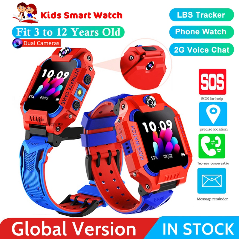 Dual Camera Children's Smart Watch 2G SIM Card Call Kids Smart Watches LBS Positioning Anti Lost Watch Phone For Baby Girls Boys
