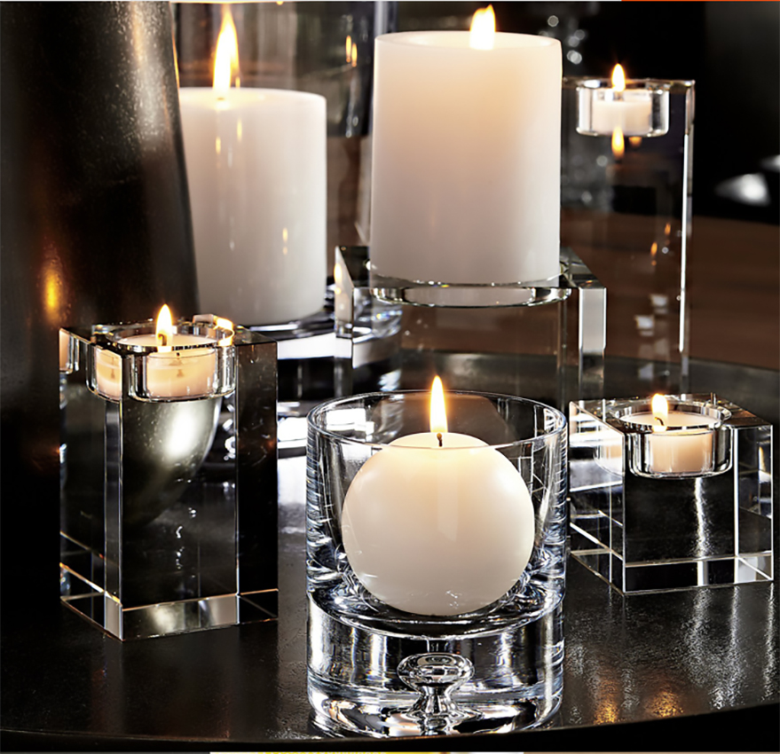 Crystal Square Glass Tealight Free Shipping