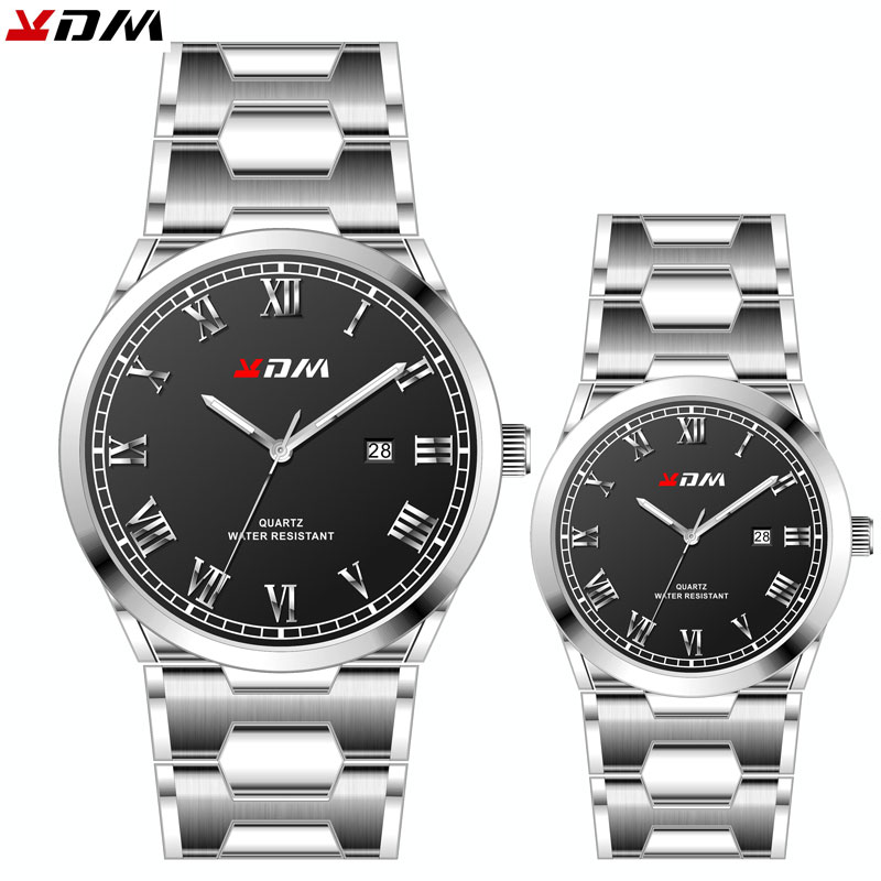 Elegant Couple Pair Watch Stainless Steel Band Lovers Best Gift Reloj Para Parejas Simple Luxury Couple Watches Pair Men&women