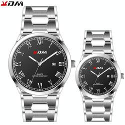 Elegant Couple Pair Watch Stainless Steel Band Lovers Best Gift reloj para parejas Simple Luxury couple watches pair men&women
