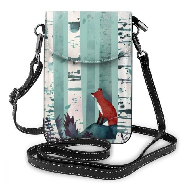 Fox Shoulder Bag Fox Leather Bag Trending Multi Pocket Women Bags Womens Print Mini Student Shopping Purse