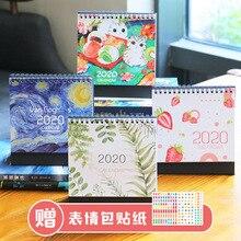 Календарь Ретро Ван Гог иллюстрации/лист/клубника/кошка каваи стол органайзер для календаря планировщик расписаний ноутбук Escolar