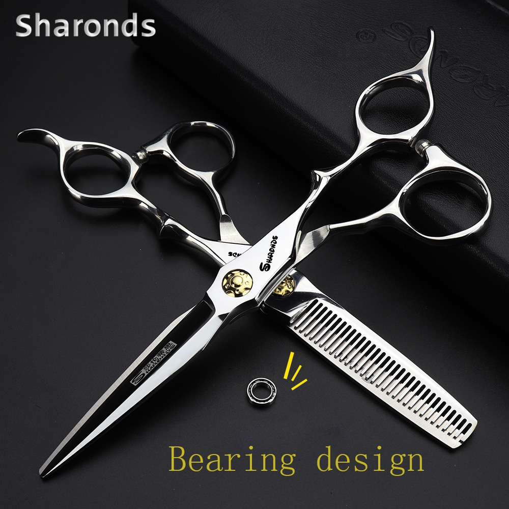 Professional Hairdressing Scissors 440c Steel Hair Barber Scissors Set Scissors Hair Scissors High Quality Salon 6 Inch Makas
