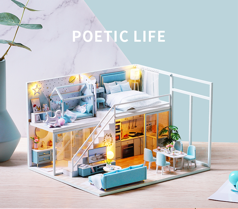 Poetic Life DIY 3D Miniature Dollhouse Kit