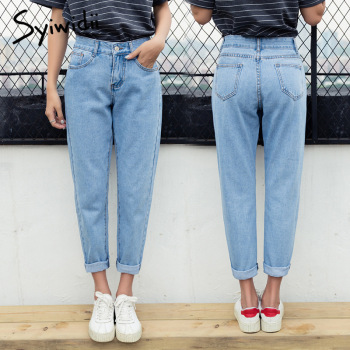 Cotton high waist jeans blue plus size boyfriend jeans for women Harem Pants 5xl street style korean fashion 2020 new 1