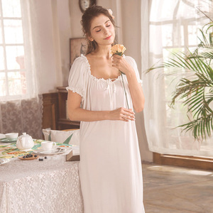 Image 2 - روسهارت نساء موضة أنثى أبيض مثير ملابس خاصة فستان سهرة مقوس دانتيل Homewear ملابس نوم ثوب نوم ثوب فاخر ملابس منزلية