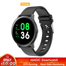 2019 Magic Women Smart watch Man Heart Rate Blood oxygen Sport Bluetooth Men Fitness KW19 Smartwatch For Android IOS phone