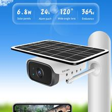 Video Surveillance Camera Solar Battery Power Voice Intrusion Wireless WIFI 1080P Intelligent Security Waterproof Smart Home