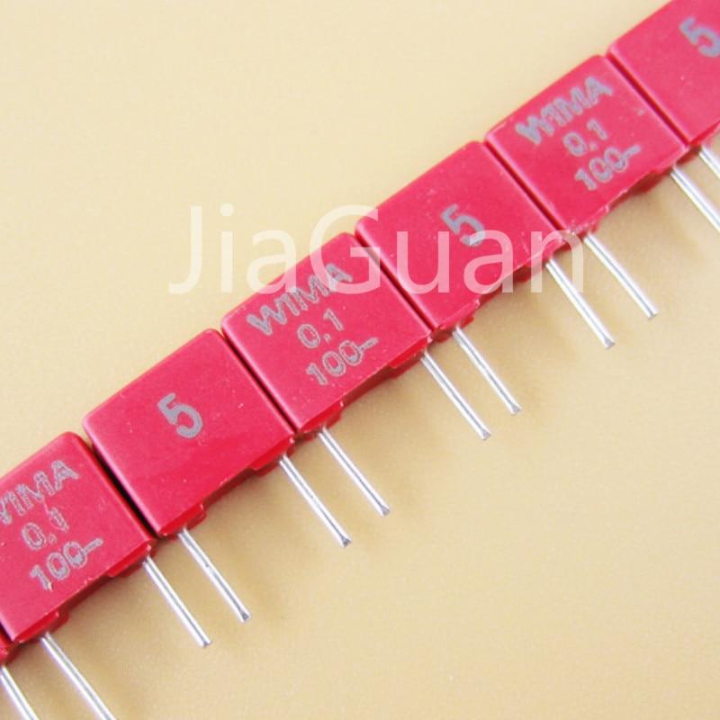 10PCS NEW original WIMA MKS2 0.1uF/100v 5% 100NF 100V P5MM mks-2 104/100V 104 Audio Film Capacitor 0.1U 100nF/100V 100v0.1uf