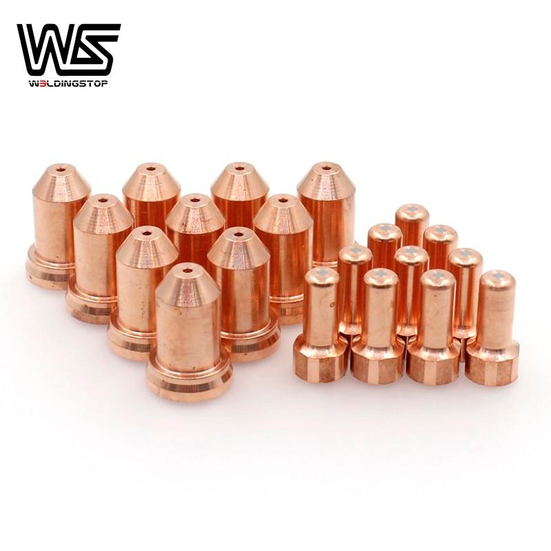 PTM80 PTM-80 IPT-80 PT80 Electrode Tip Nozzle 1 0mm 1 2mm 1 3mm for Plasma Cutter Torch Consumables 20pcs