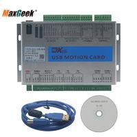 Maxgeek Upgrade CNC Mach3 USB Maxgeek 3/4/6 Axis Motion Control Card Breakout Board 2MHz Driver Board for CNC Engraving Machine