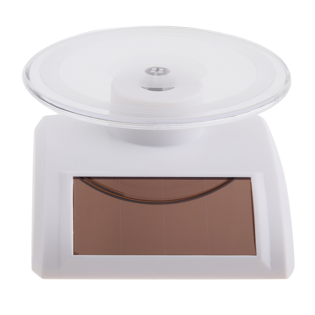 Mini Solar Powered Turntable Rotating Display Stand Holder Watch Phone Jewelry 360 Degree Rotating Jewelry Display