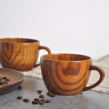 Handmade Wooden Cup Chinese Style Primitive Drinking Natural Tea Coffee Beer Drinkware Travel Teaware Home Kitchen Gift