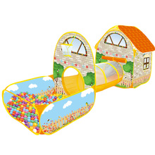 Baby Toy House Ocean Ball Pool Large Space Villa Garden Cottage Princess Room Children Indoor Tent Game House Beach Tent Gift