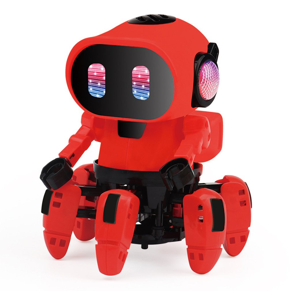 Electric Six-claw Robot Toy Arming Swing Dancing Fish Small Music Children Shaking Toys With Lights Toy