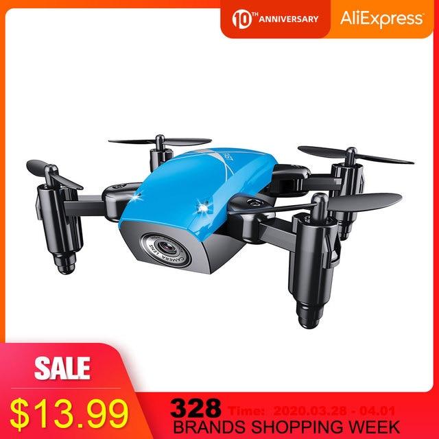 Mini cuadricóptero S9HW con cámara S9, Dron teledirigido sin cámara, plegable, mantenimiento de altitud, WiFi, FPV, Dron de bolsillo VS CX10W, gran oferta 2020