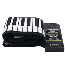 88 Key Electronic Piano Keyboard Silicon Flexible Roll Up Piano with Loud Speaker