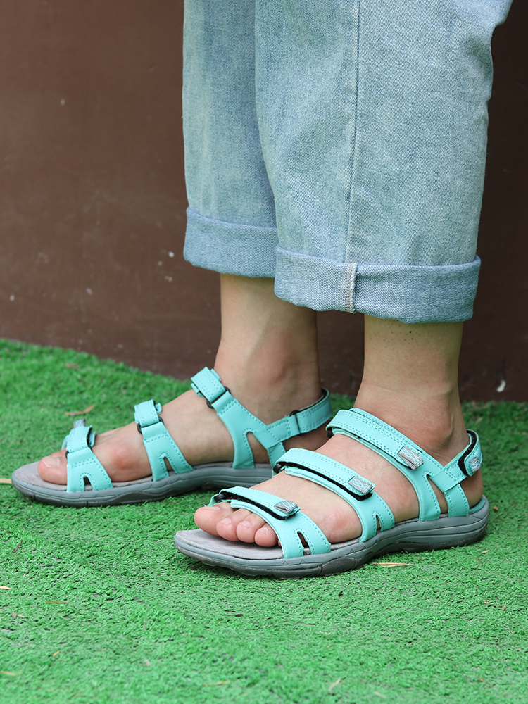 GRITION Comfortable Sandals Shoes Flat Summer Ladies Beach Casual 41 Ourdoor Sturdy Wear-Risistant