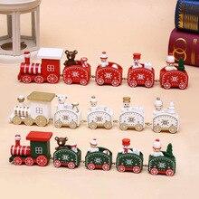 Новогодняя елка, расписанный поезд, новогоднее Новогоднее украшение для дома, Санта-Клаус/медведь, детские игрушки, подарок, орнамент, детский подарок