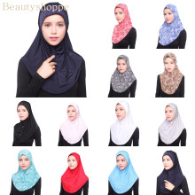 Красота мусульманский хиджаб исламский Тюрбан-Джерси Женский черный ниндзя подшарф шапки мгновенный головной шарф полное покрытие внутренние покрытия шапки
