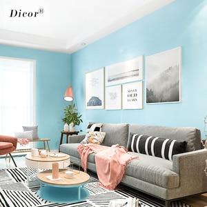 Image 3 - 5M Macaron düz renk PVC su geçirmez kendinden yapışkanlı duvar kağıdı oturma odası çocuk yatak odası dekoru vinil yapışkan kağıt mutfak dolabı