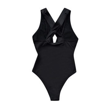Woman Plus Size Swimsuit 2020 One Piece Bathing Suit For Women Big Black Lace Beach Swimming Vintage Bather Female Swimwear#J30 4