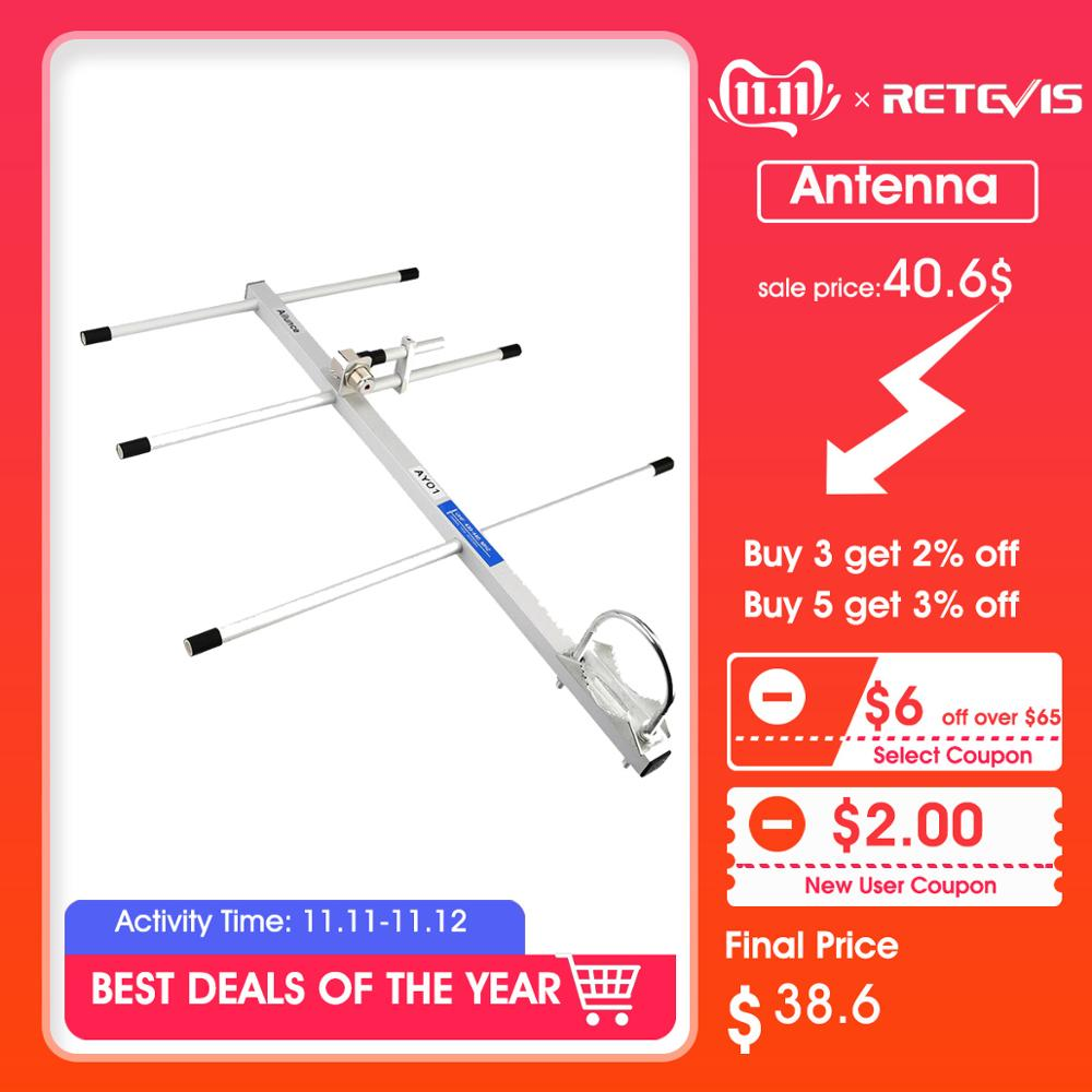 RETEVIS Ailunce AY01 High Gain Yagi Antenna UHF 430-440MHz Female Connector Walkie Talkie Yagi–Uda Antenna Ham Radio Antenna