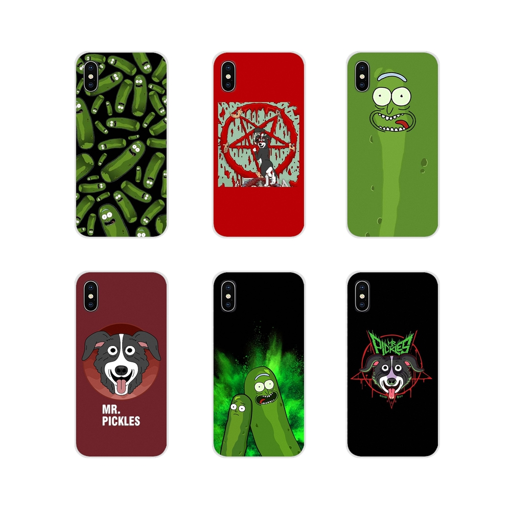 Accessories Phone Shell Covers mr pickles cucumber rick meme For Samsung Galaxy A3 A5 A7 A9 A8 Star A6 Plus 2018 2015 2016 2017 image