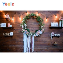 Yeele Wood Photocall Vintage Texture Wreath Wall Photography Backdrops Personalized Photographic Backgrounds For Photo Studio