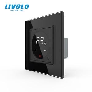 Image 2 - Livolo inteligentny termostat Standard ue regulacja temperatury, termostat do ogrzewania podłogowego, 4 kolory Panel ze szkła kryształowego, AC 110 250V