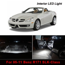 17 Uds Kit de paquete de luces LED interiores de coche sin errores para 05-11 Benz R171 slk-class Dome Map para maletero o matrícula(China)