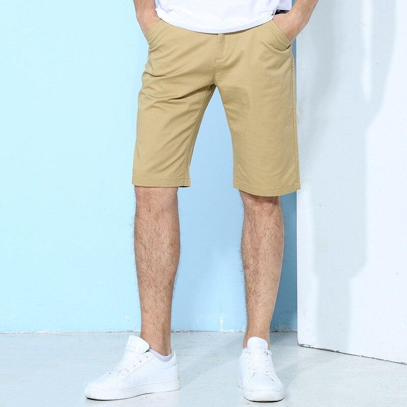 Workwear Card Shorts Men's Fashion Korean-style Elasticity Straight-Cut Hans Pants Shorts Casual 5 Shorts