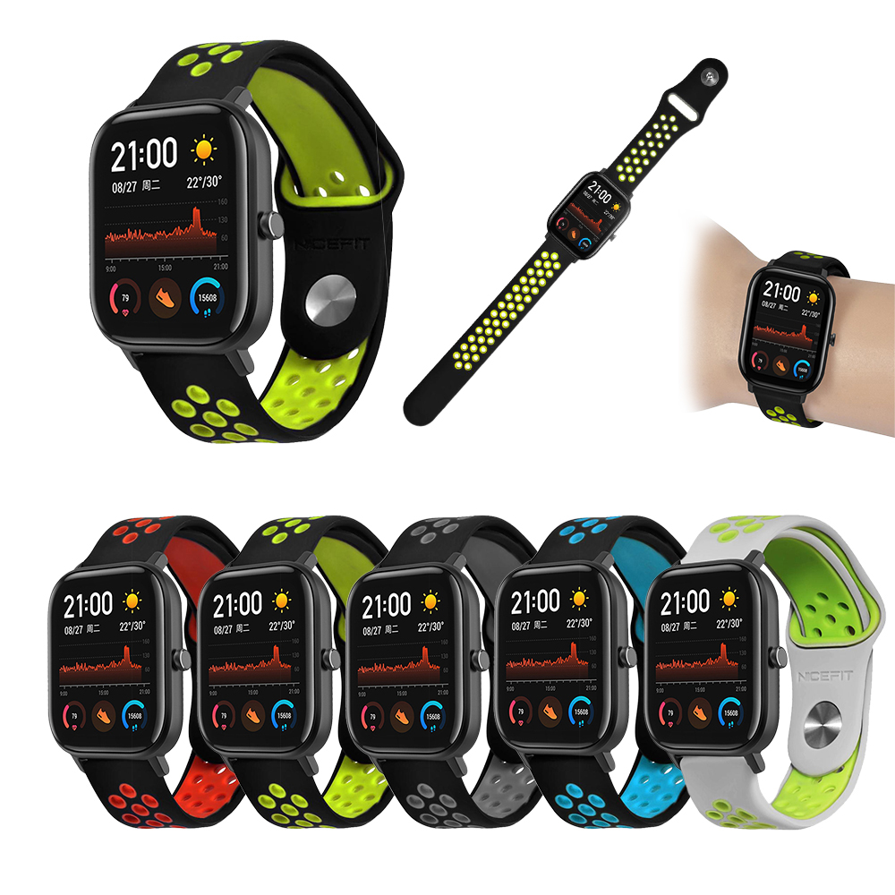 Multicolor 20mm Sports Silicone Wrist Strap For Huami Amazfit GTS Bip BIT PACE Lite Youth Smart Watch Band Bracelet Wristband