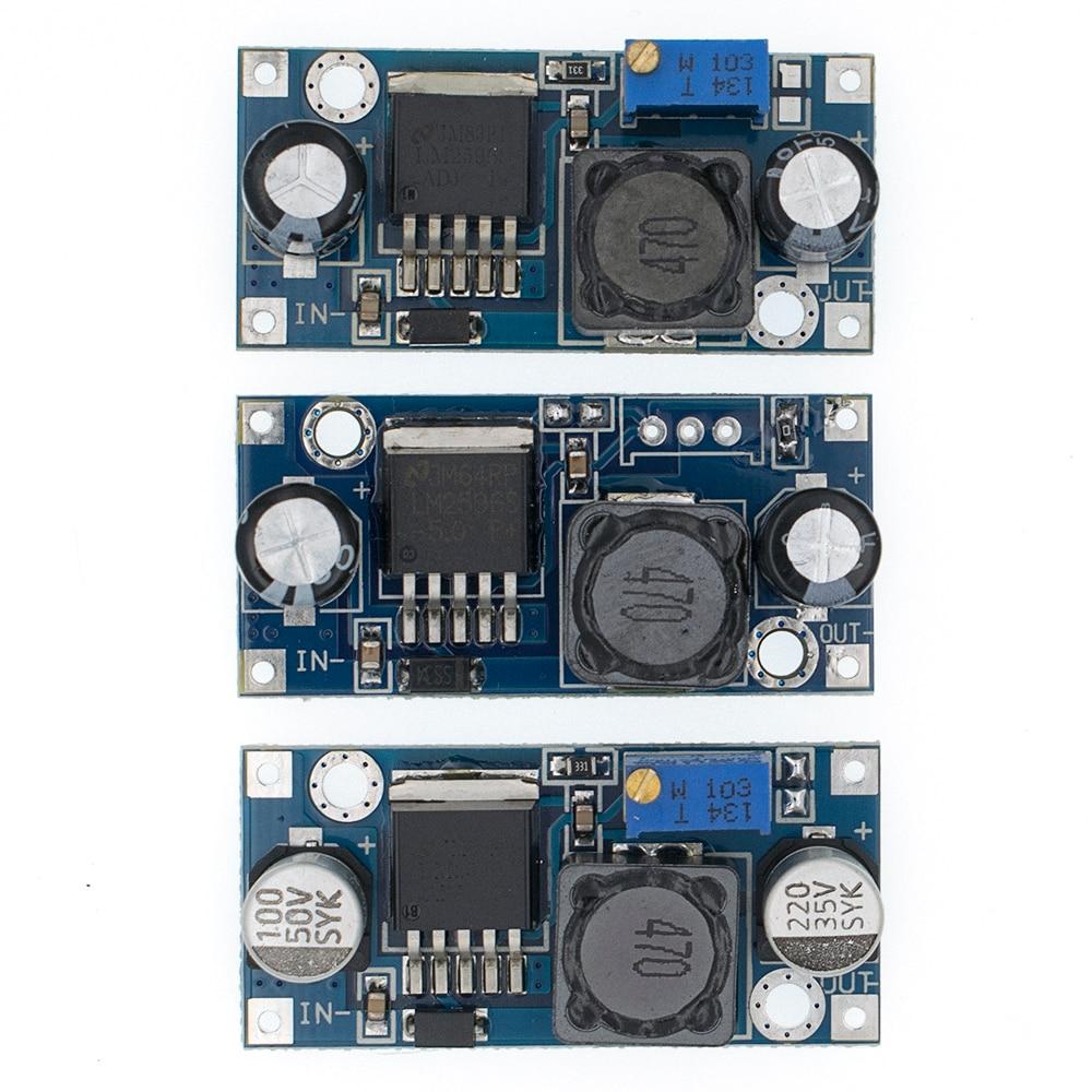 Lm2596 lm2596s adj módulo de alimentação DC-DC step-down módulo 5 v/12 v/24 v regulador de tensão ajustável 3a