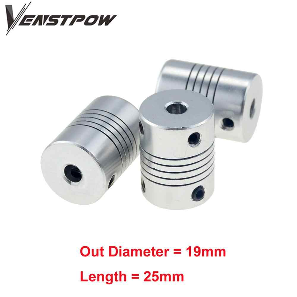 4pcs 6x6mm CNC Motor Jaw Shaft Coupler 6mm To 6mm Flexible Coupling OD 19x25mm