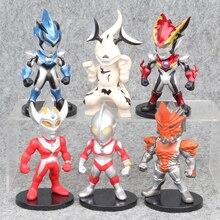 6pcs/1lot Action Toys Ultraman