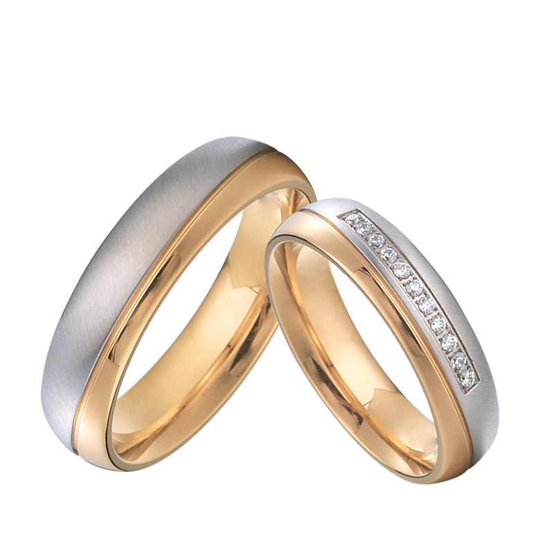 Men S And Ladies Alliances Love Proposal Marriage Couple Wedding Rings Set For Men And Women Rose Gold Color Stainless Steel Wedding Band Ring Engagementset Bague Aliexpress