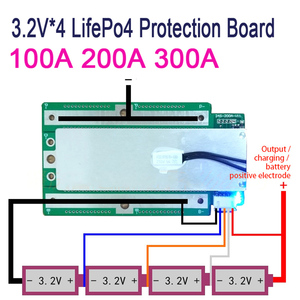 Image 3 - 4S 100A 200A 300A 3.2V LifePo4 Protection Board 12.8V Car Start Inverter BMS PCB 100% brand new and high quality