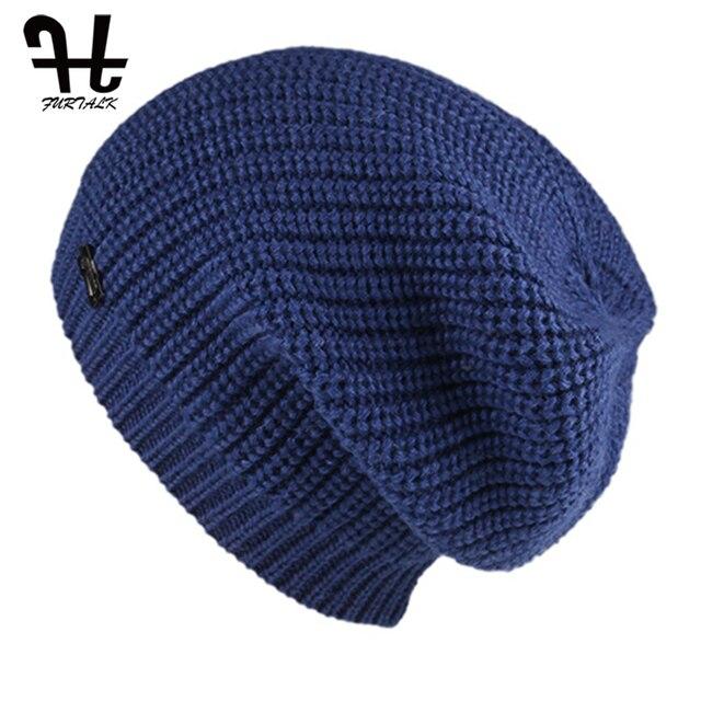 FURTALK Beanie Hat for Women Winter Warm Skullies Beanies Soft Autumn Girls Ladies Knitted Hats Female bonnet Cap Pink Black