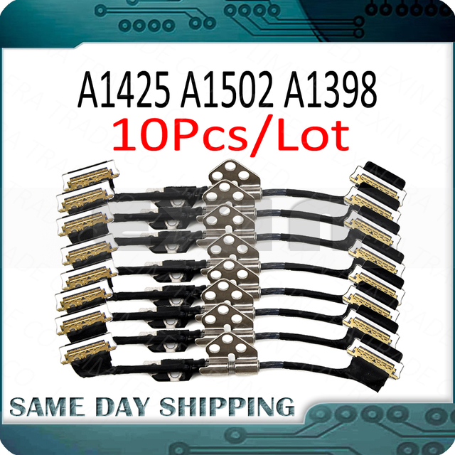 """10Pcs/Lot  for Macbook Pro Retina 13"""" A1425 A1502 15"""" A1398 LCD Cable LED LVDs Display Screen Cable 2012  2015 Year"""