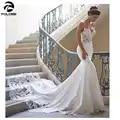 FOLOBE Mermaid lace Trouwjurk Mouwen 2019 Vestidos de novia Vintage Lace Sweetheart Bruidsjurk Backless Bruidsjurken