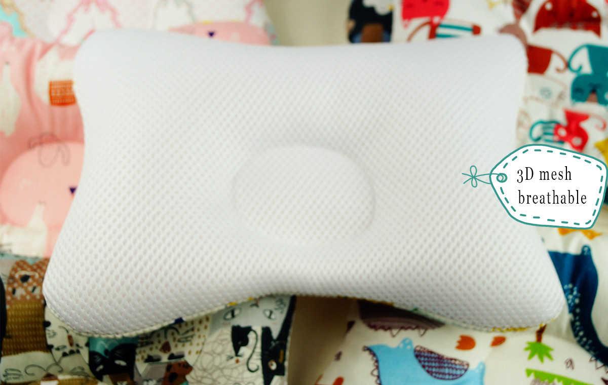 Yenidoğan bebek yastıklar karikatür bebek desteği önlemek rulo bebek yastık düz kafa boyun bebek pamuk yastık bebek yatak