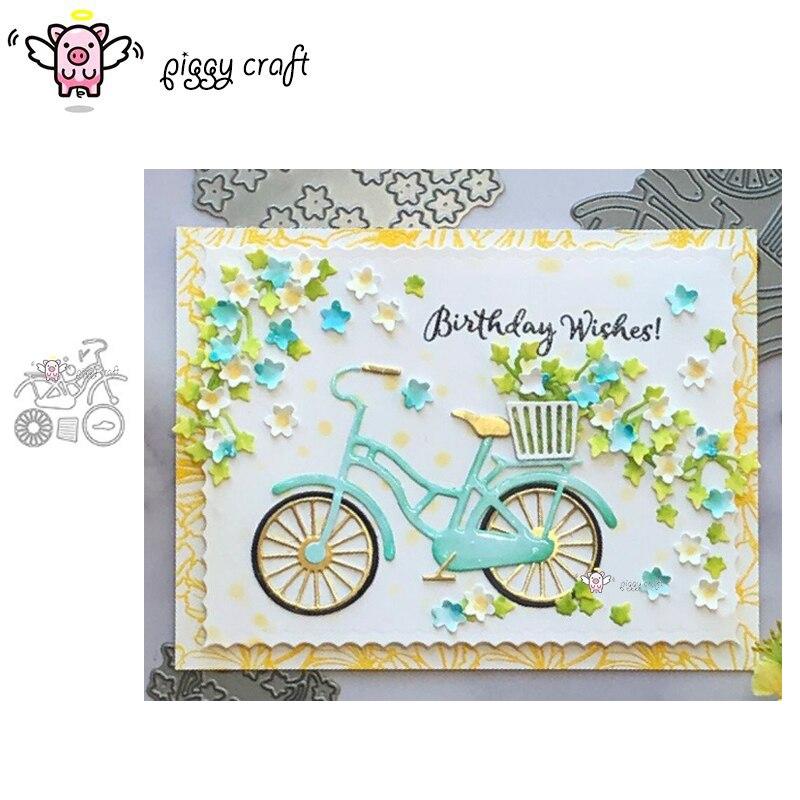 Металлические режущие штампы Piggy Craft, формы для украшения велосипеда, скрапбукинга, бумаги, ножей, штампы для перфорации лезвий, трафареты