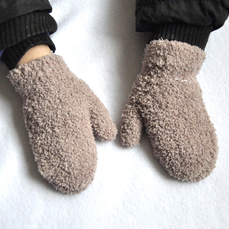 Boys/' Grey 2 Pack Mittens 1-4 Years Toddler