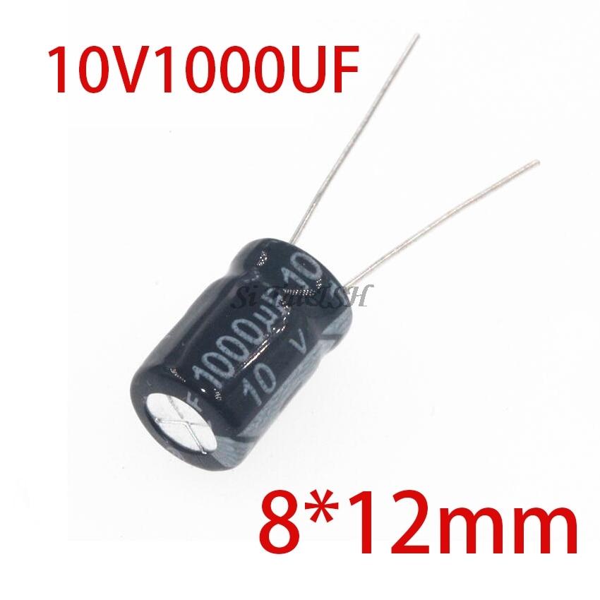 20PCS Higt Quality 10V1000UF 8*12mm 1000UF 10V 8*12 Electrolytic Capacitor