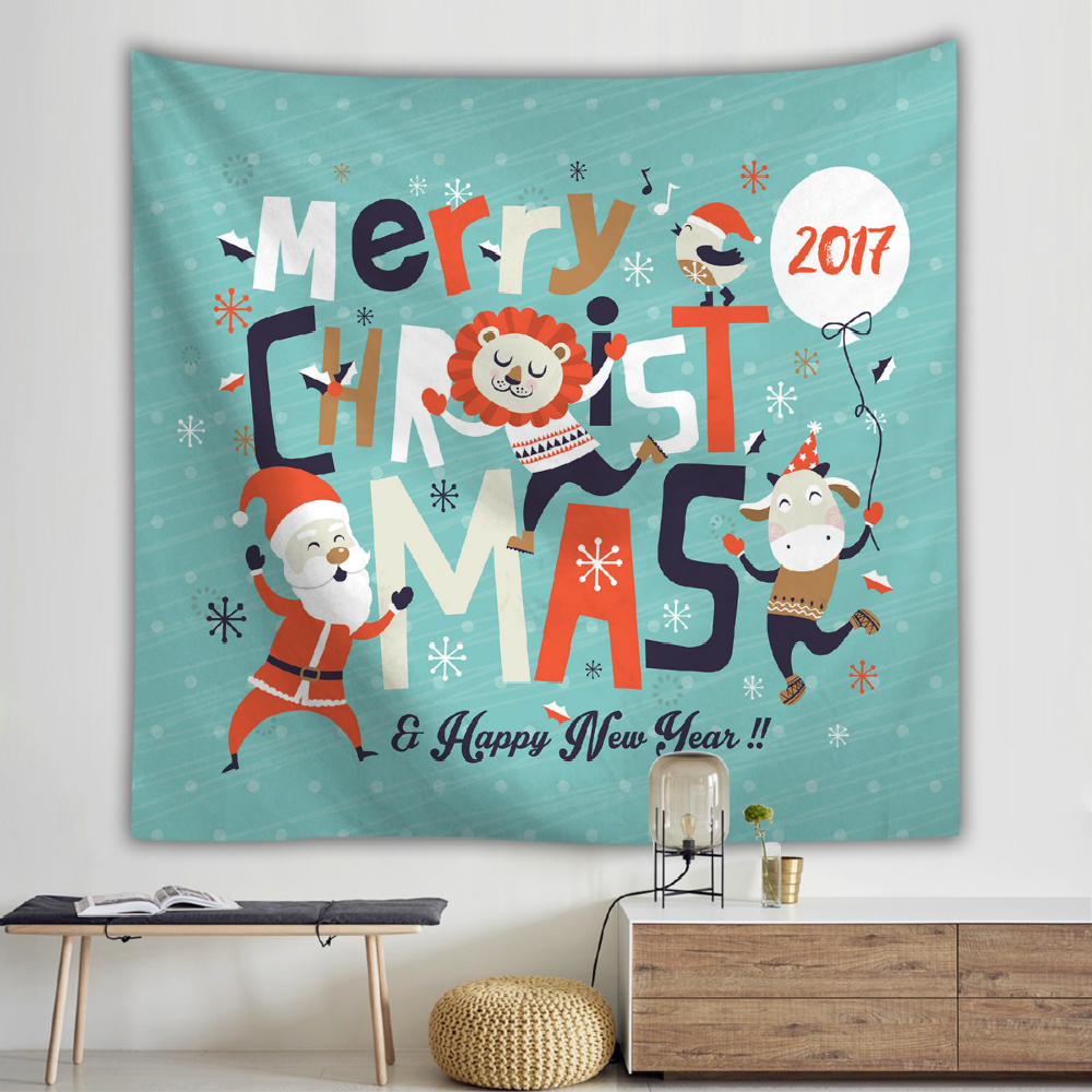 Christmas Cartoon Tapestry Wall Hanging Snowman Elk Santa Claus 3D Printed Wall Hanging Tapestry Children 39 s Room Decor Blanket in Tapestry from Home amp Garden