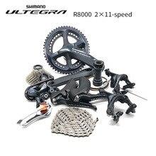 Shimano Kit de cambio de marchas para bicicleta de carretera, kit de cambio de marchas Ultegra R8000 de 170/172, 5/175mm, 50 34, 52 36, 53 39, de 22 velocidades