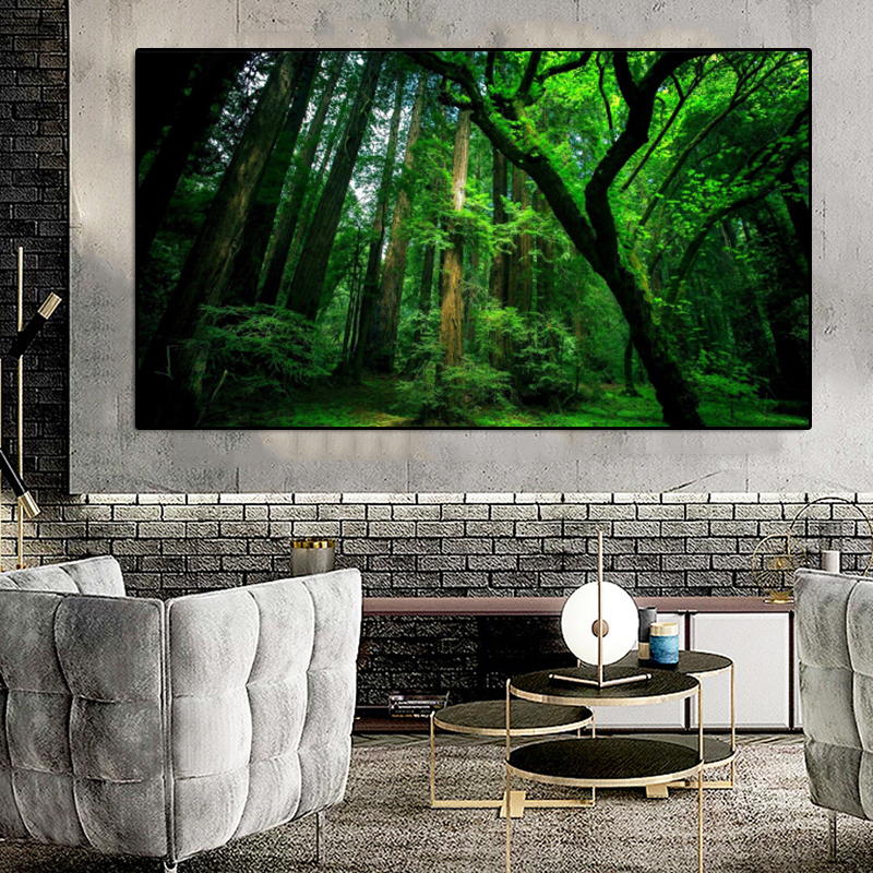 Wall Art Canvas Painting Forest Tree Nature Landscape Posters And Prints Wall Art Pictures For Living Room Cuadros Home Decor